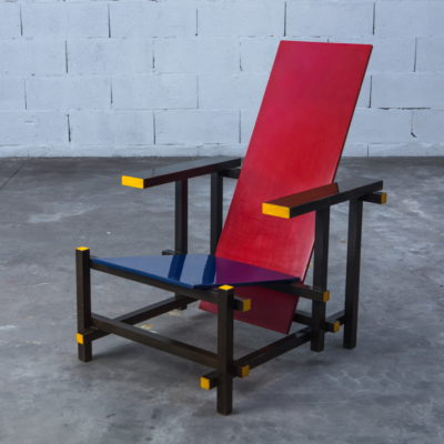 Early Red & Blue chair - Gerrit Rietveld for Cassina signed n.23