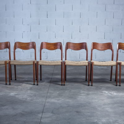 Model 71 teak chairs - Niels O. Møller for J.L. Møller