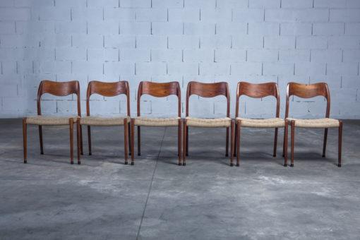 Model 71 teak chairs - Niels O. Møller for J.L. Møller
