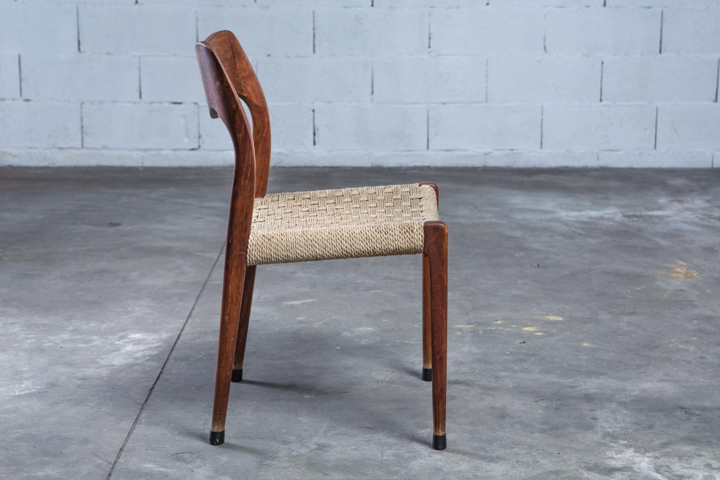 Model 71 chairs - Niels O. Møller for J.L. Møller - Side view