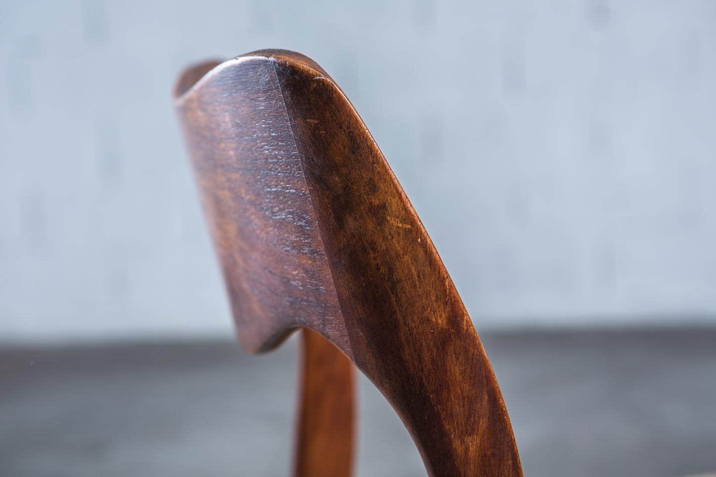 Model 71 teak chairs - Niels O. Møller for J.L. Møller - Backrest detail