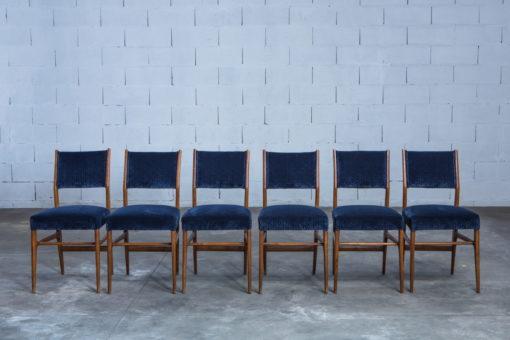 Six chairs designed by Gio Ponti for Figli di Amedeo Cassina (1950s)
