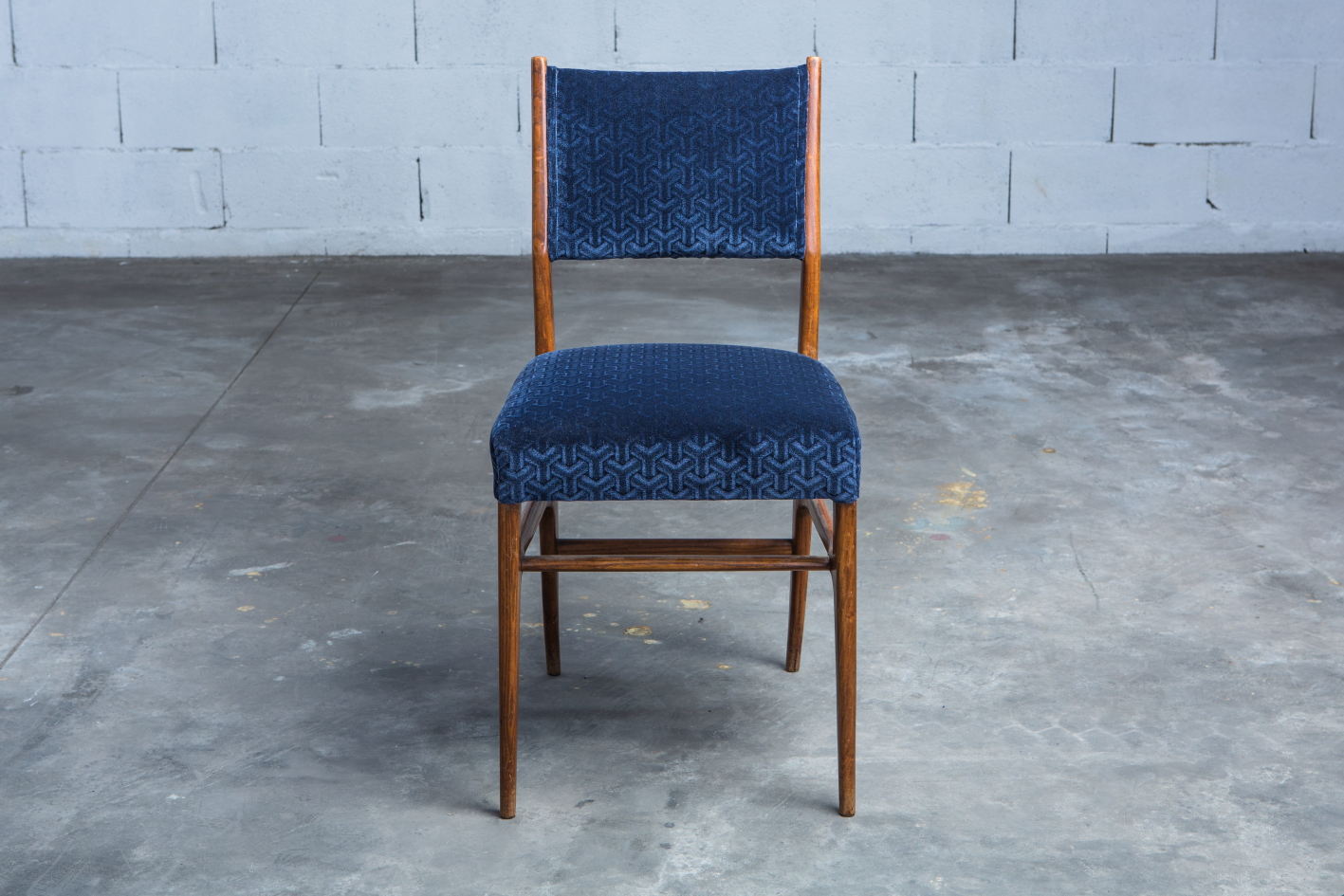 Six chairs designed by Gio Ponti for Figli di Amedeo Cassina (1950s) - Front view