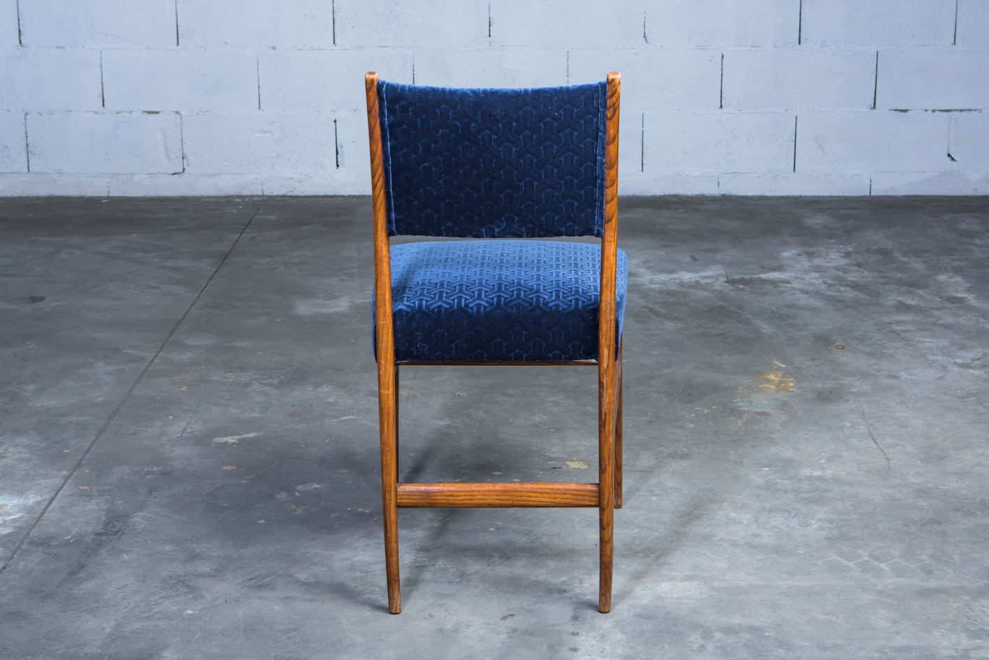 Six chairs designed by Gio Ponti for Figli di Amedeo Cassina (1950s) - Back view