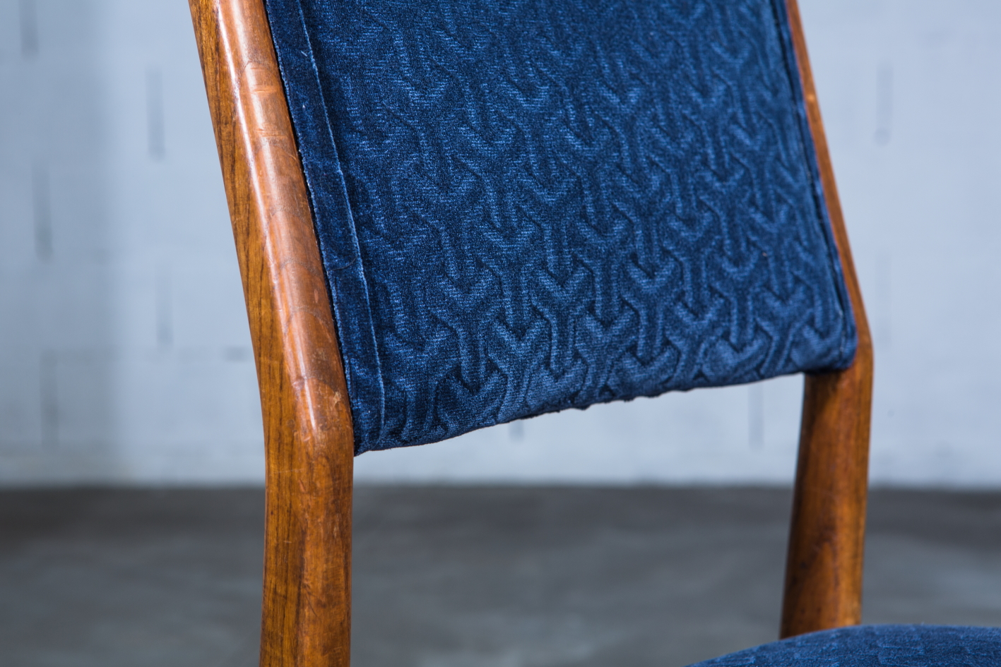 Six chairs designed by Gio Ponti for Figli di Amedeo Cassina (1950s) - Fabric detail