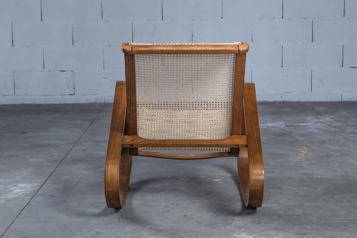 Dondolo rocking chair by Luigi Crassevig 1970s - Back view