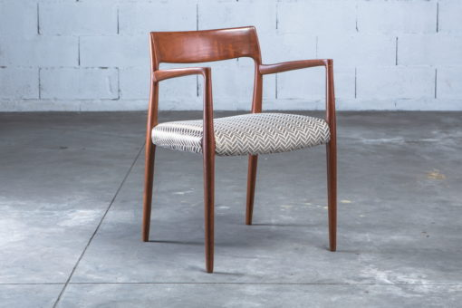 Armchair Model 57 by Niels Otto Møller for J.L. Møller teak and fabric