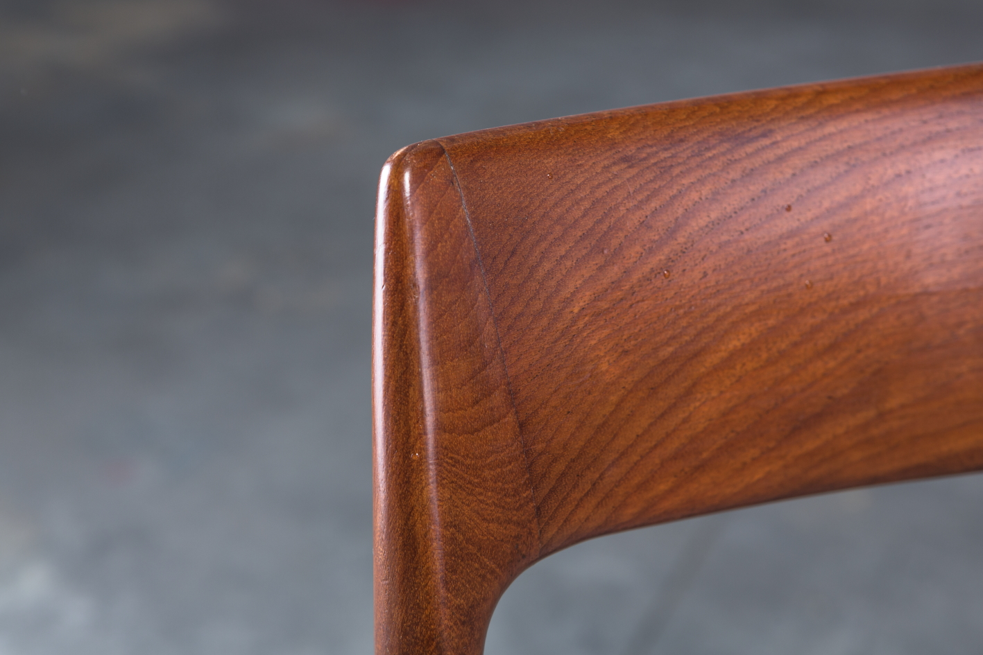 Armchair Model 57 by Niels Otto Møller for J.L. Møller - rosewood detail