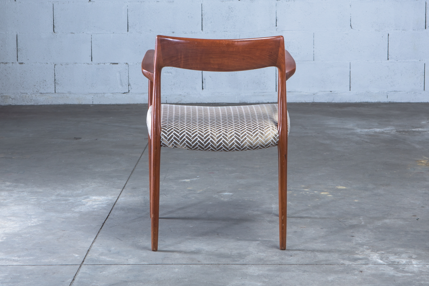 Armchair Model 57 by Niels Otto Møller for J.L. Møller - back view