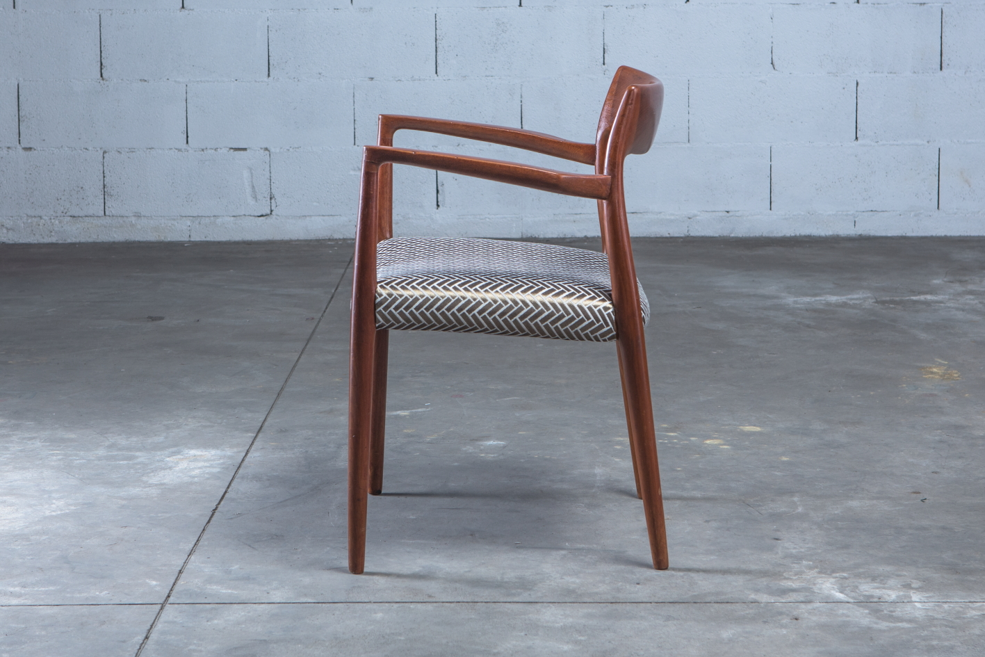 Armchair Model 57 by Niels Otto Møller for J.L. Møller - Side view