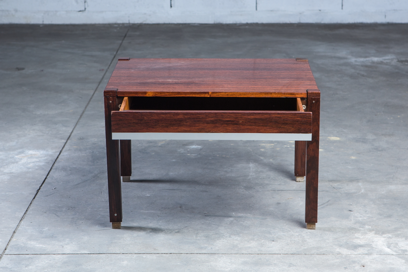 Low table with drawer - Ico Parisi for Mim - Front view