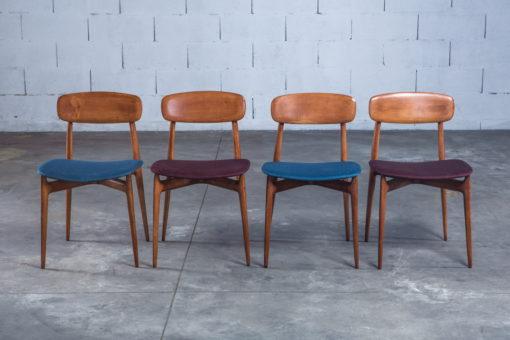 4 Mid century Vintage Italian dining chairs 1950s