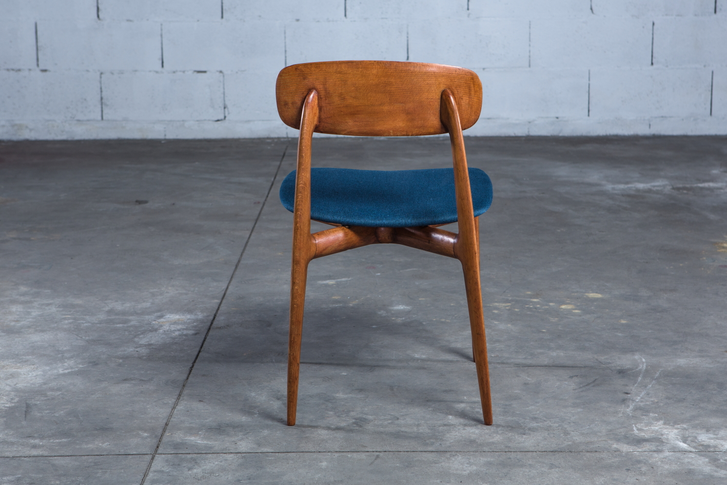 4 Mid century Vintage Italian dining chairs Ico Parisi 1950s - Back view