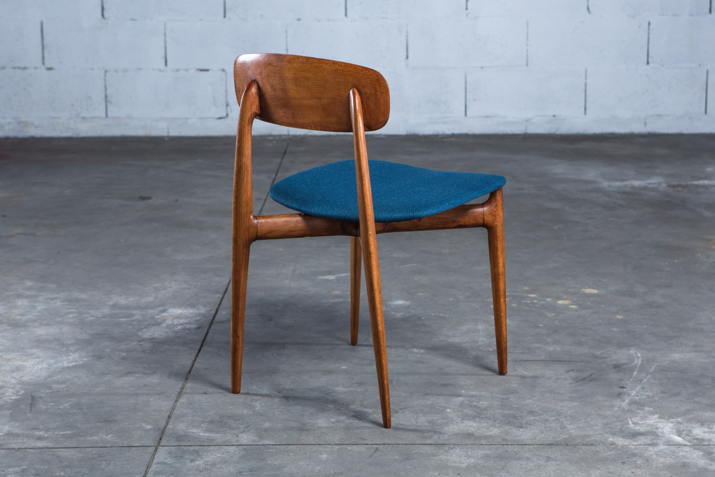 4 Mid century Vintage Italian dining chairs Ico Parisi 1950s - Back Picture