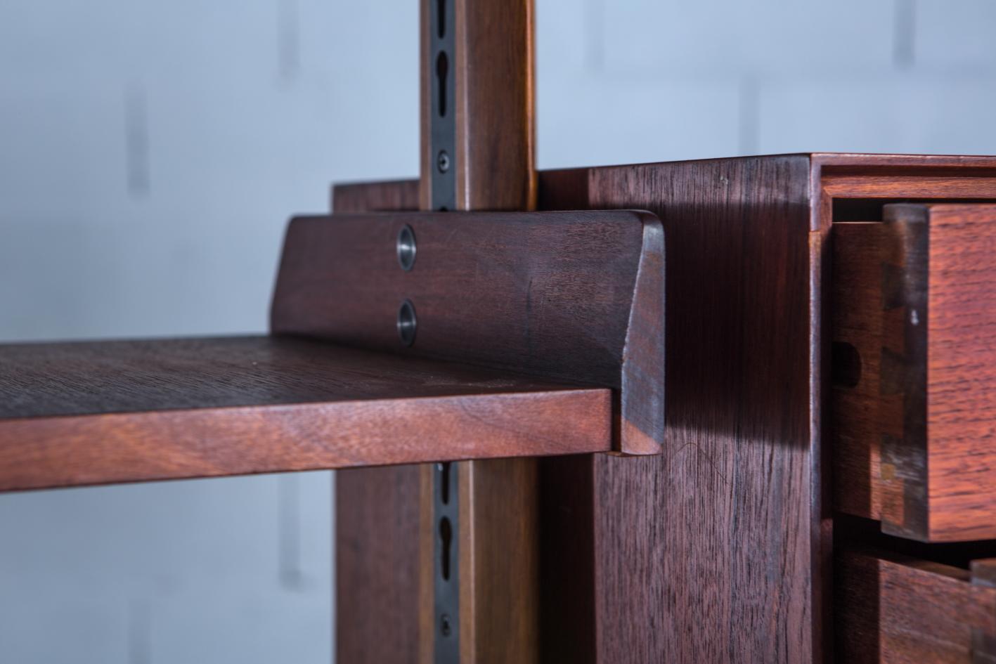 Free standing wall unit, Palutari for Dassi - Teak wood