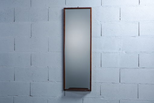Carved Rosewood Mirror by Uno & Östen Kristiansson for Luxus