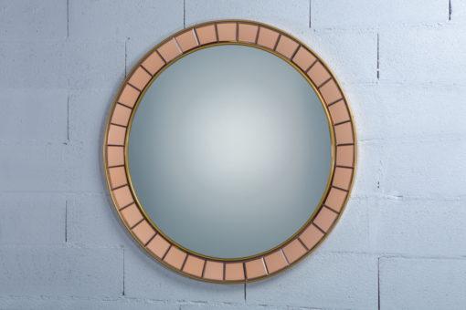 Amazing mid century glass round mirror - Cristal Art 1960s