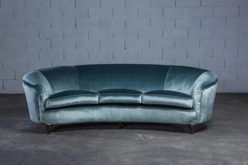 Three seater Italian curved sofa - 1940s