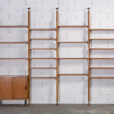A bookcase wall unit by Leonardo Fiori for Isa Bergamo 1950s
