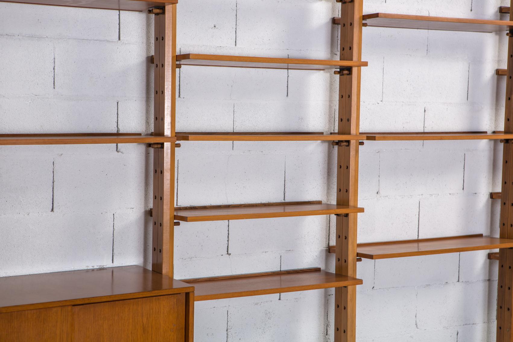 A bookcase wall unit by Leonardo Fiori for Isa Bergamo 1950s - Shelves 2