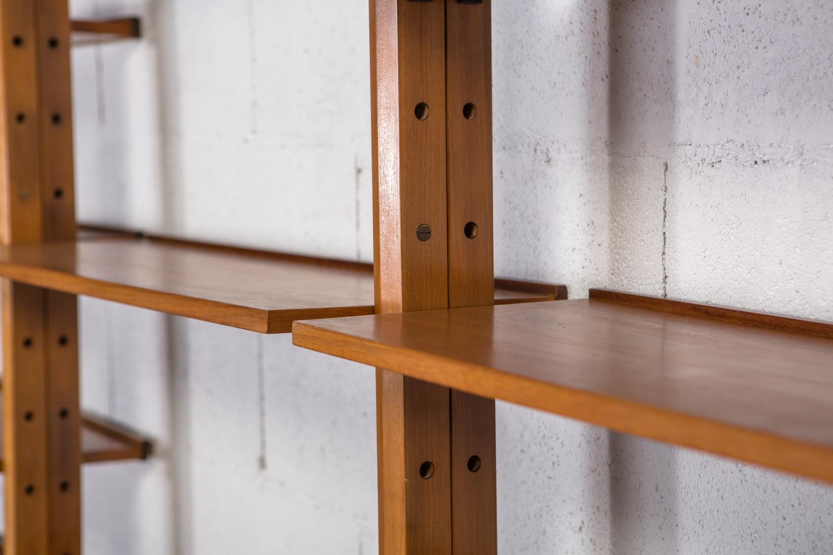 A bookcase wall unit by Leonardo Fiori for Isa Bergamo 1950s - Shelves 3