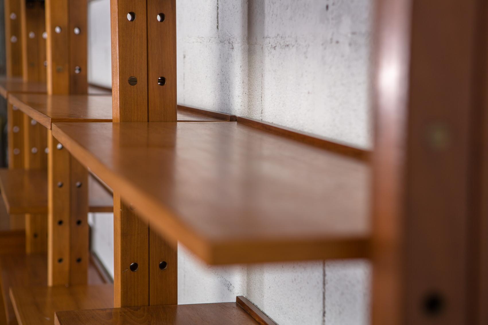 A bookcase wall unit by Leonardo Fiori for Isa Bergamo 1950s - Shelves