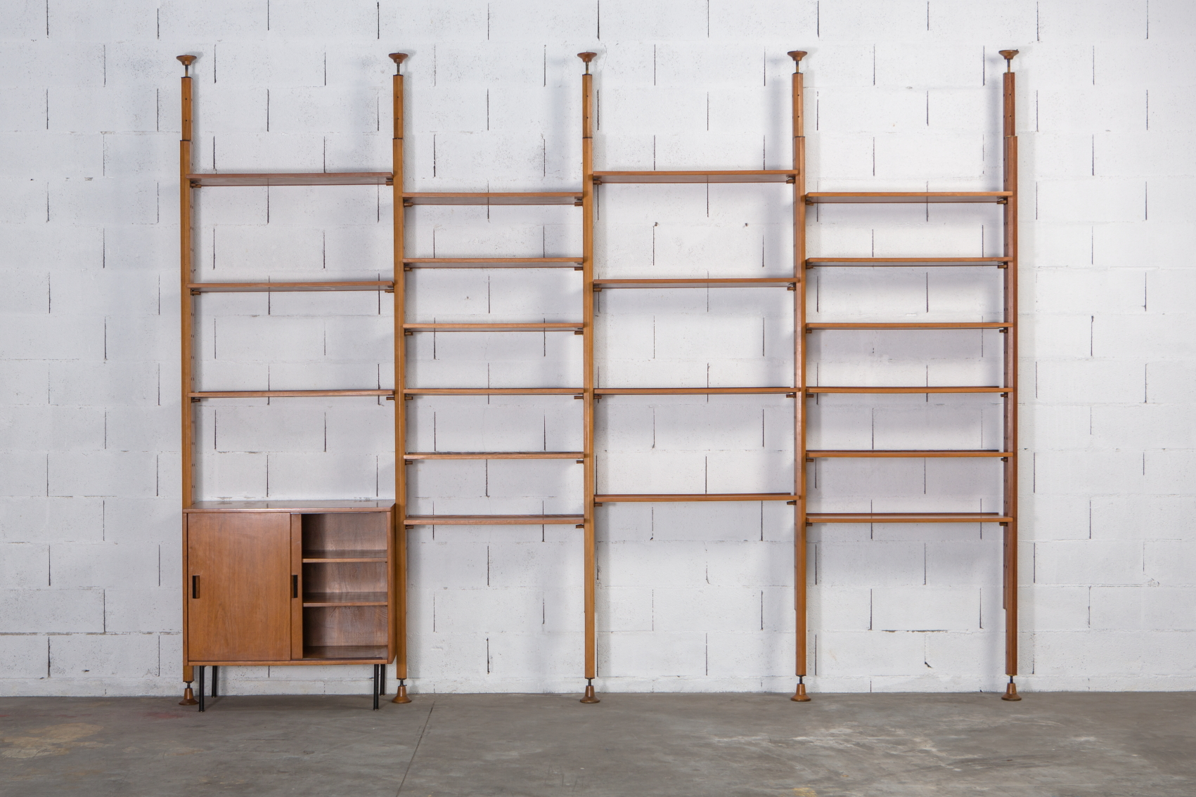 A bookcase wall unit by Leonardo Fiori for Isa Bergamo 1950s - Front View