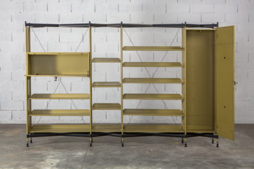 Olivetti ''Spazio'' Shelving System by B.B.P.R. with a cabinet and a drawer