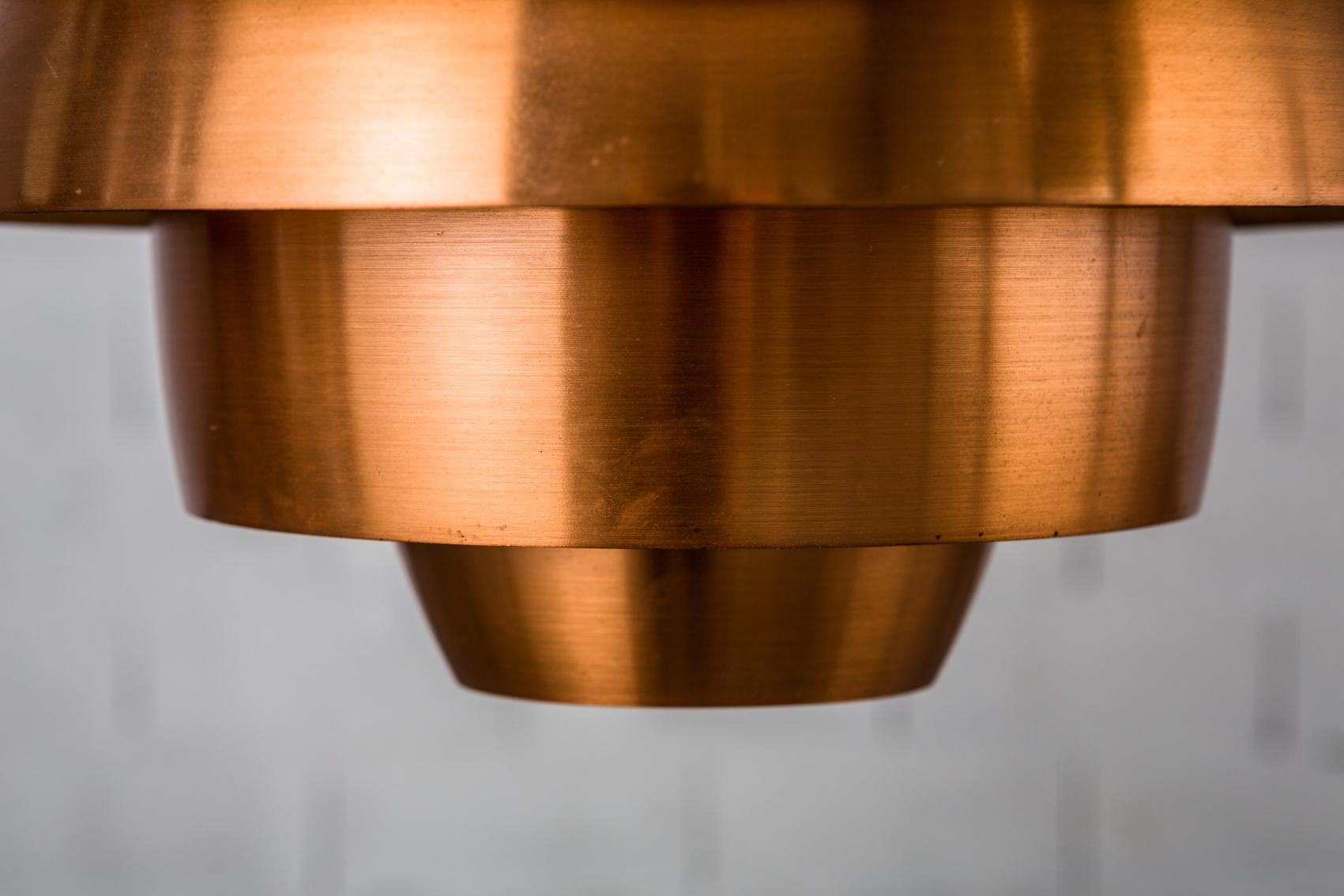 stilnovo 1231 model ceiling light - brushed copper detail