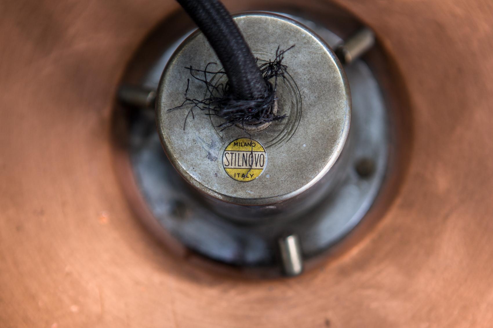 Stilnovo 1231 model pendant light - Label
