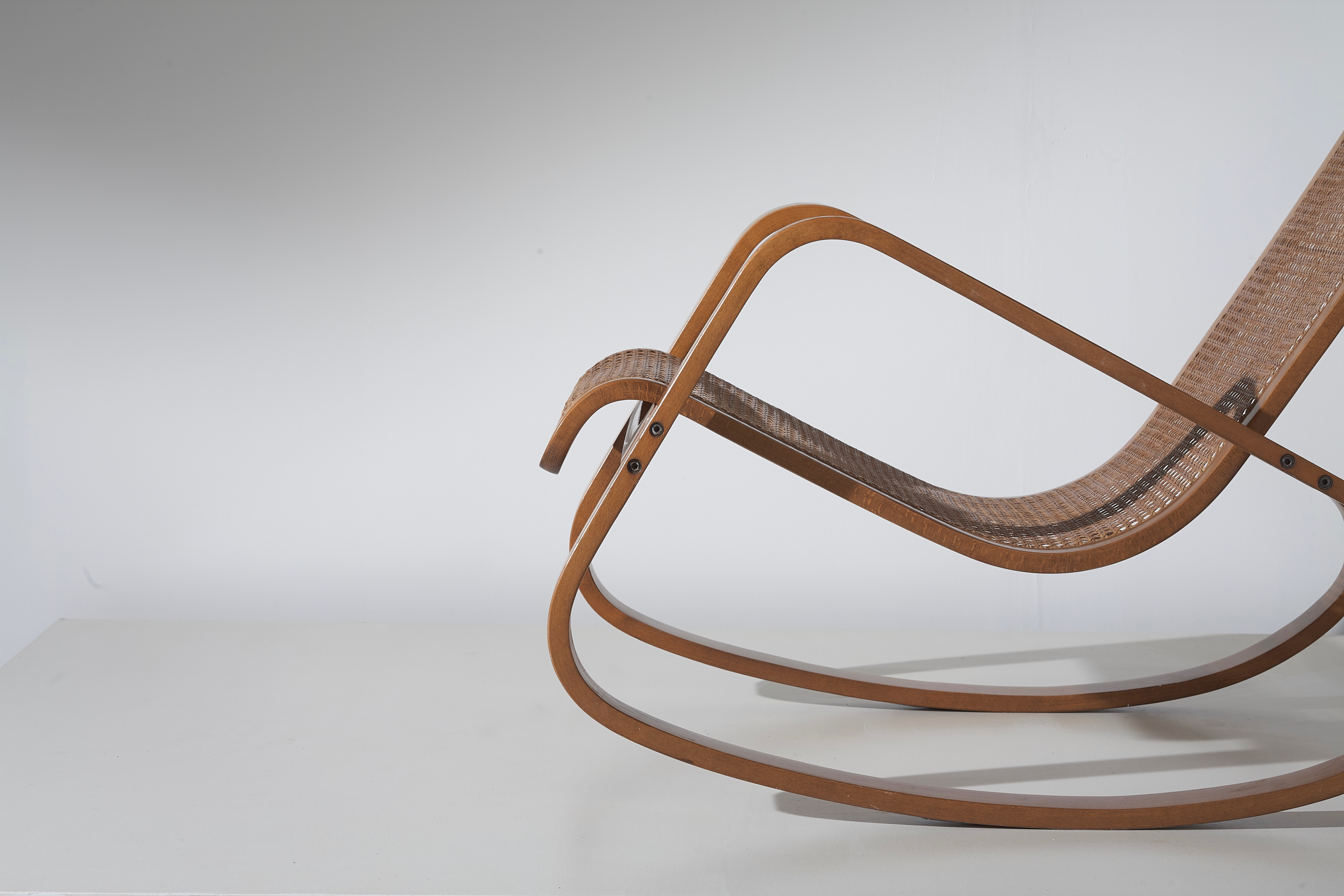 Dondolo rocking chair by Luigi Crassevig 1970s -3/4 front view