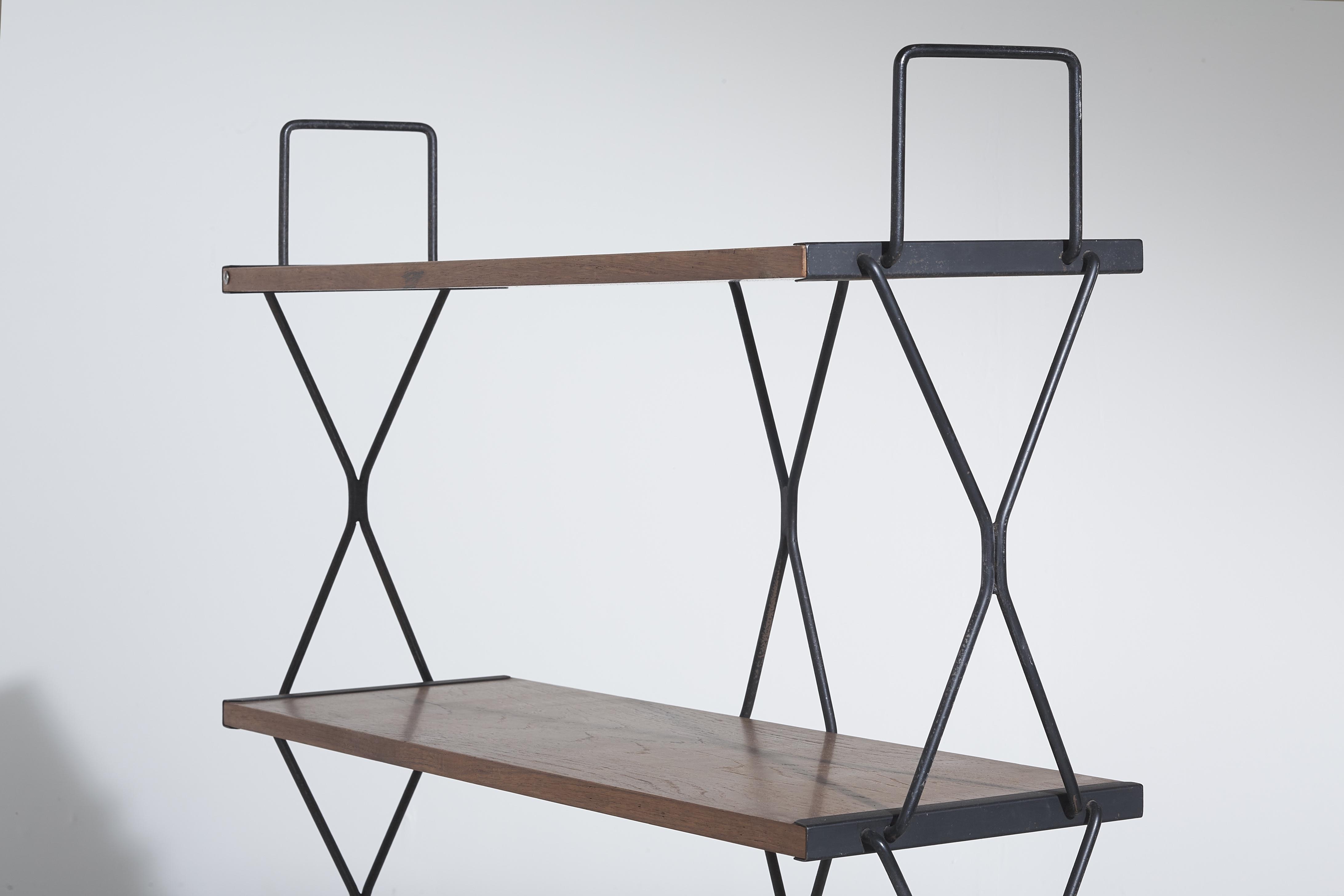 Bookshelf by Isa Bergamo - Italy - 1950s - teak and Iron