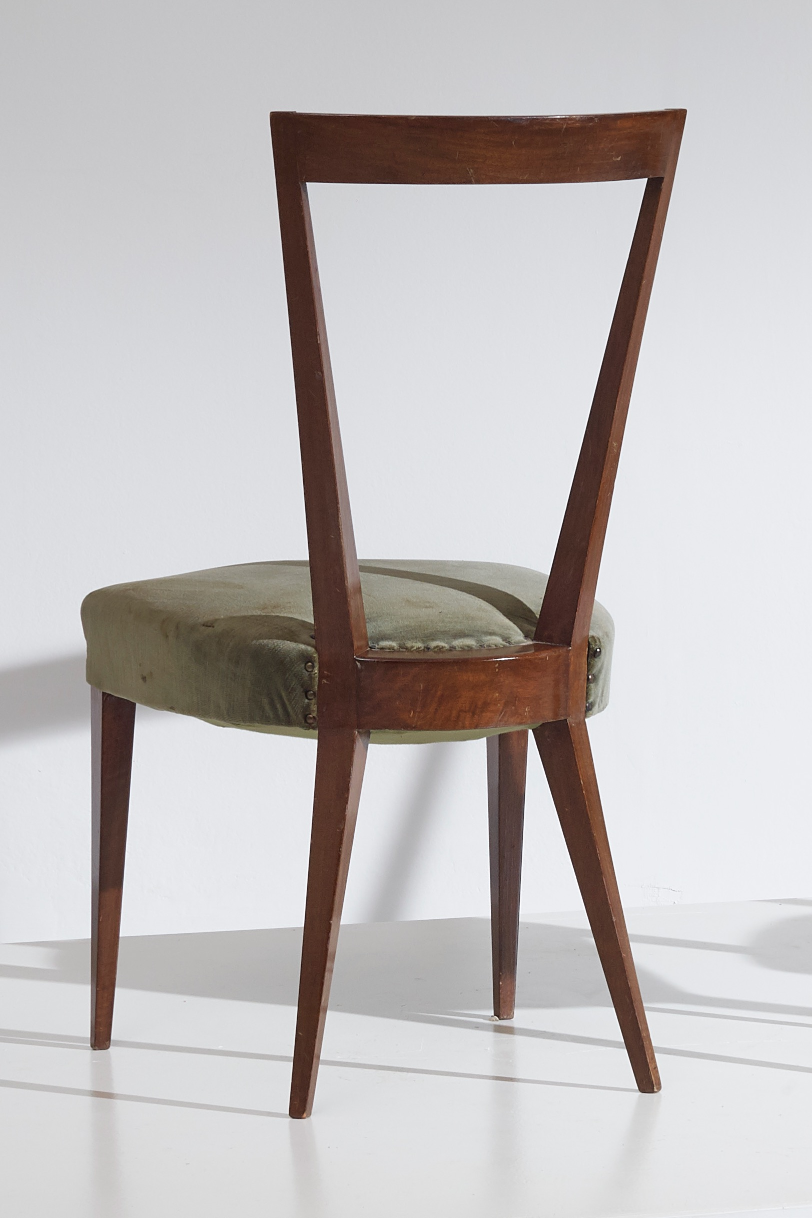 Very rare set of four Gio Ponti dining chairs designed in the 1938 and produced by Casa e Giardino, Italy