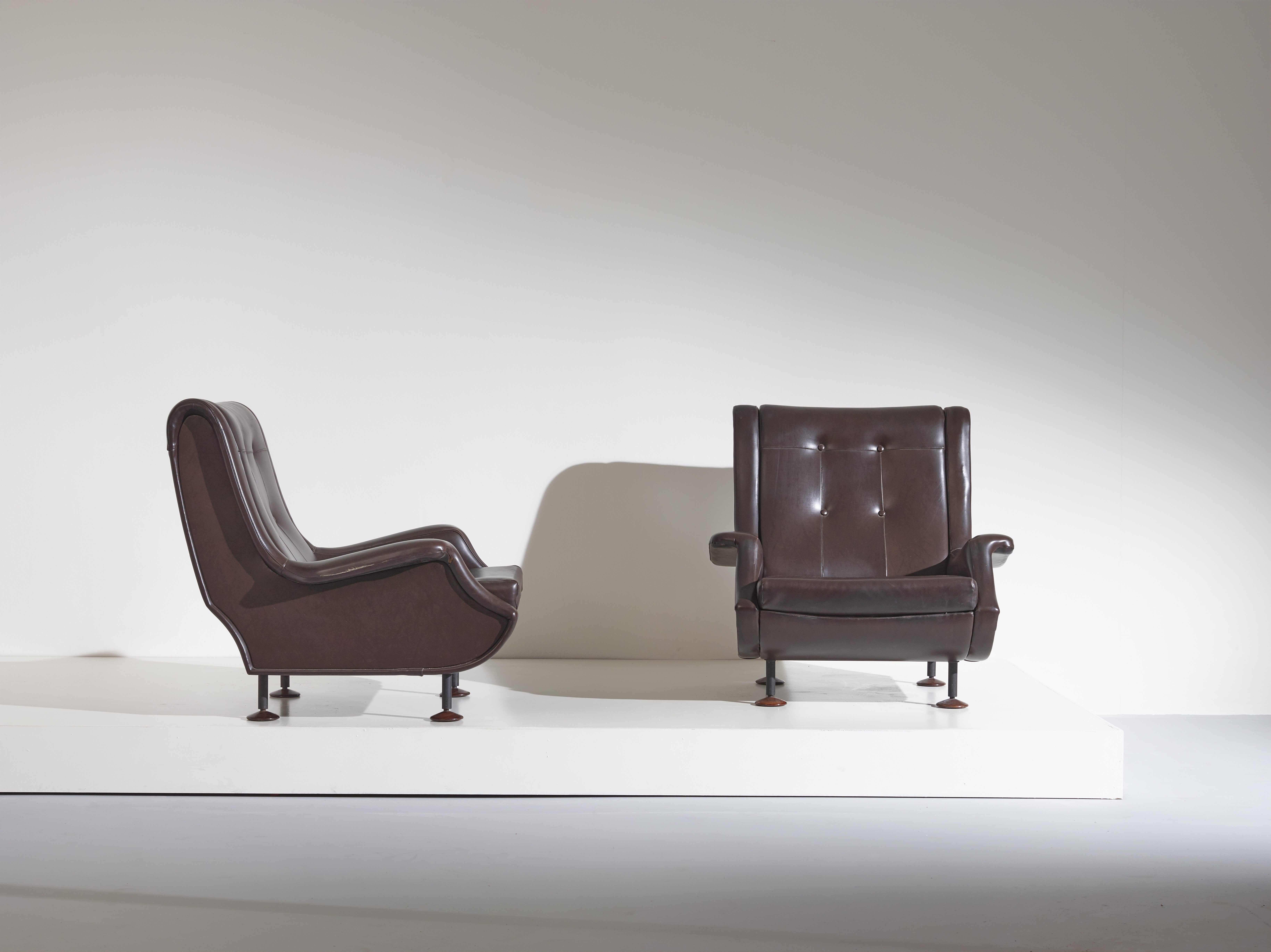 Pair of Regent armchairs designed by Marco Zanuso for Arflex